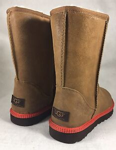 ac9ad7bee92 Details about UGG Australia Mens Classic Short Leather Sheepskin Boots  CHESTNUT Orange 1003950