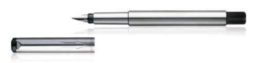 Personalised Engraved Parker Vector Stainless Steel Fountain Pen Chrome Trim