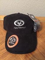 Flying Fisherman Microfiber Adjustable Hat/cap Black W/removable Sweat Band