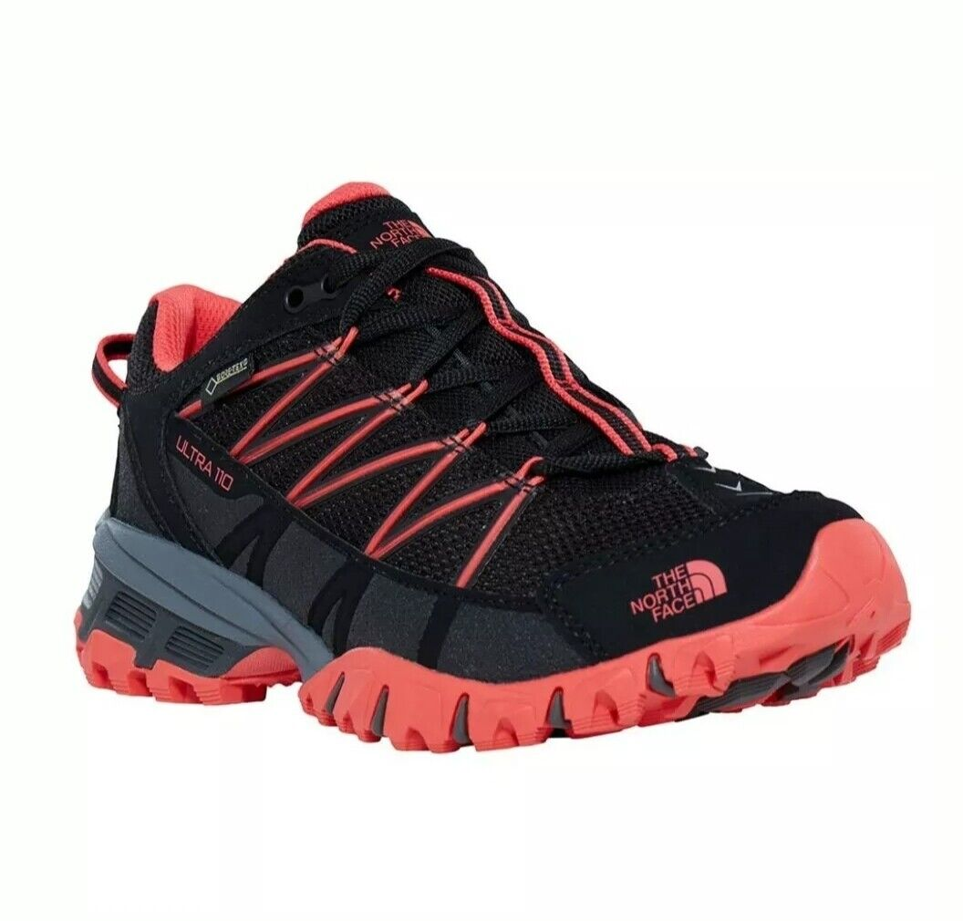 SALE NEW UK SIZE 6  WOMEN'S NORTH FACE ULTRA 110 GORE-TEX® BLACK RED