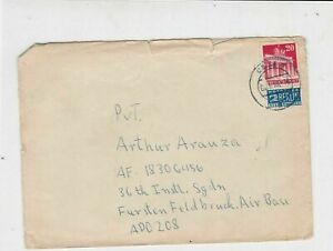 Germany 1950 Celle Cancel Notopfer Stamps Cover to Air Base Ref 23289