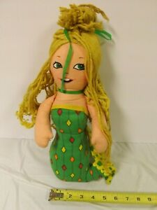 Vintage-1974-poulet-de-la-mer-sirene-Mattel-publicite-tissu-Stuffed-Plush