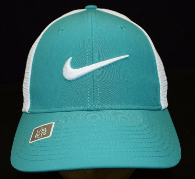 Nike Golf Legacy91 Tour Mesh Flex Fit Hat Green White Size L xl 727031 351 6ab630681120