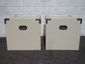Image Is Loading Campaign Tables Minimalist Cube Pair Of Chest Asian