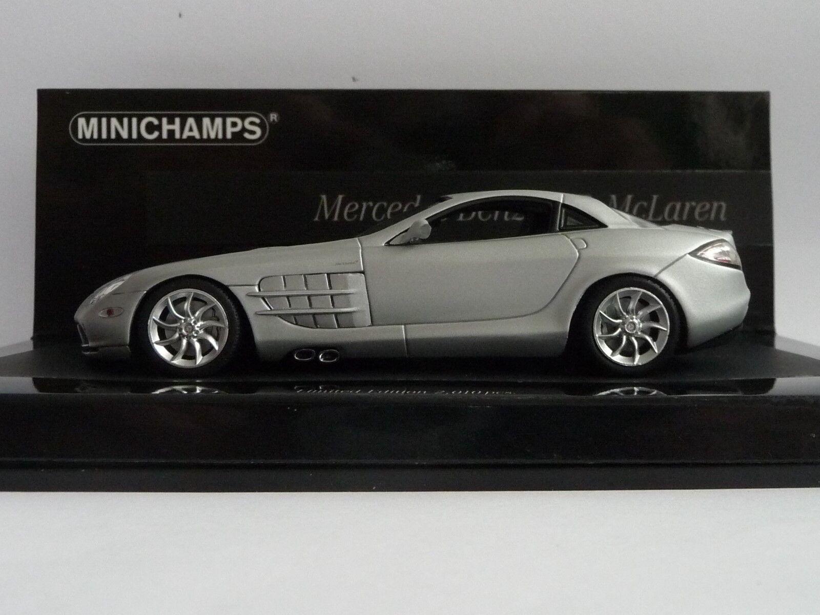 Minichamps 1 43  Mercedes-Benz  SLR McLaren matt silber  | Ausreichende Versorgung