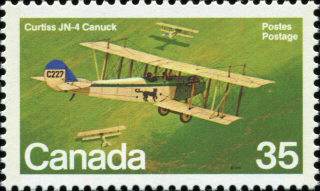 Canada Scott 875 Curtiss JN-4 Canuck (1918) VF MNH OG (20197)