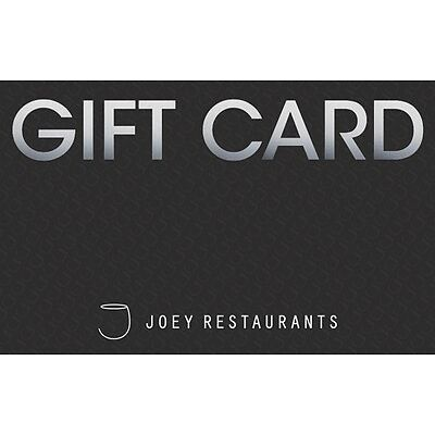 JOEY Restaurant Gift Card - $50 Mail Delivery