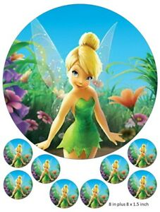 Tinkerbell Cake and Cupcake Toppers, Peter Pan, Birthdays ...