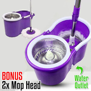 360 Spinning Stainless Mop Steel Magic Spin Rotation Extra Microfibre Mop Head