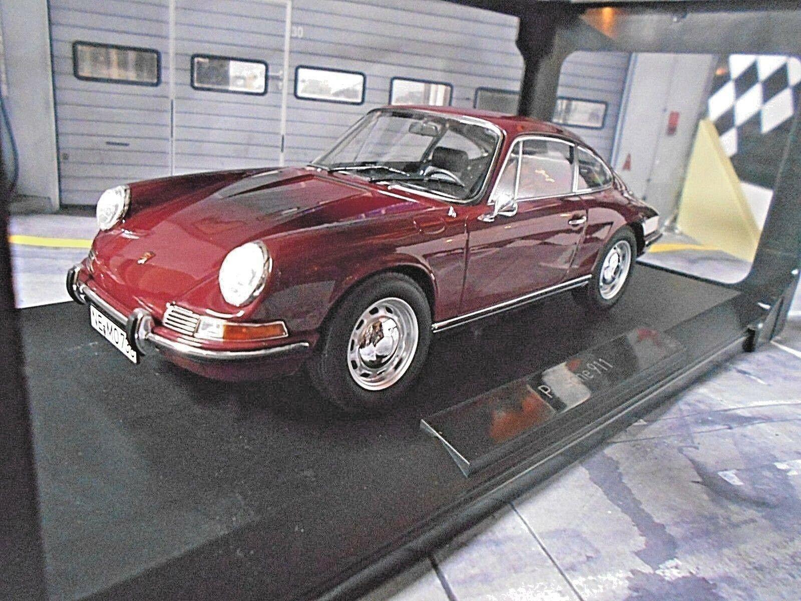 PORSCHE 911 T Coupe F-Modell dark rot rot 1969 NEU 187630 Norev 1 18  | Charmantes Design