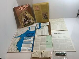 Vintage-Source-of-the-Nile-Board-Game-Avalon-Hill-1979-Incomplete-No-Punchouts