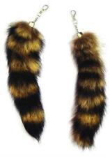 12 JUMBO RACCOON TAIL KEY CHAIN rendezvous animal fur racoons tails new keychain