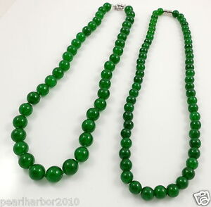 Malay Jade Beaded Necklace & Magnetic or Ring Clasp 8mm/10mm
