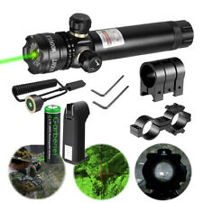 18650 Rifle Remote Switch Tactical 532nm Green Laser Dot Scope Sight Battery Us