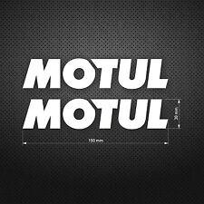 MOTUL Lubricants Racing Vinyl DIE CUT Decal Sticker Car Window 2pcs