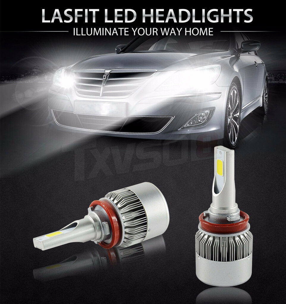 H11 H9 H8-6000K 3800LM LED Fog Light Conversion Bulbs High Low Beam 36W