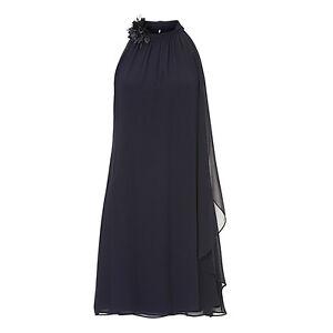 vera mont abendkleid kurz dunkelblau 22233665 cocktailkleid hochzeit festkleid  ebay