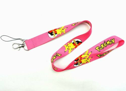 Pink Pikachu Pokemon cordon-NEUF-ROSE-GRATUIT UK LIVRAISON