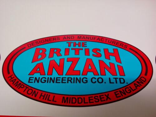 BRITISH ANZANI Iron Horse Garden tractor Bonnet Décalque Caravane Caravane Sticker