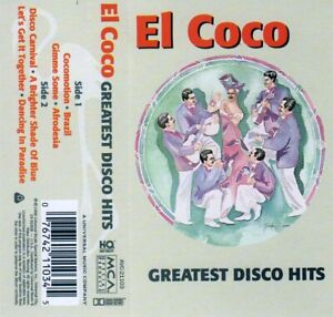 Greatest-Disco-Hits-by-El-Coco-1998-CASSETTE-MCA-AVC-21103-HX-Dolby-Pro-B-NR