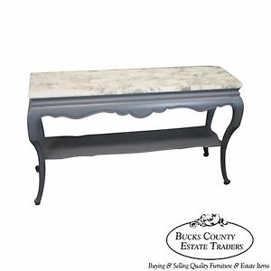 Image Is Loading French Louis XV Style Gray Painted Marble Top