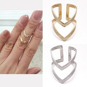 Double-2-LinesV-Chevron-Over-Midi-Tip-Finger-Above-The-Knuckle-Open-Band-Ring
