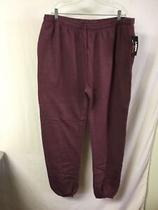 New Big Men's Large & In Charge Sweatpants Xl Burgundy #838z Large Assortment Clothing, Shoes & Accessories Men's Clothing