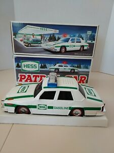2 Hess 1993 Toy Truck Patrol Cars  NEW IN BOX