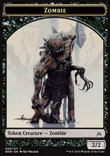 Jeton Zombie 2//2 MTG magic OGW MRM FRENCH 4x Token