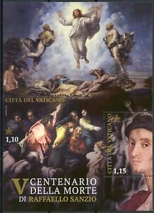 Vatican City Art Stamps 2020 MNH Raphael Paintings Transfiguration 2v M/S