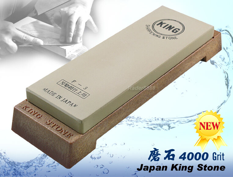 Japonais King Whetstone 4000 Grit Sharpening Stone F-3 MADE IN JAPAN