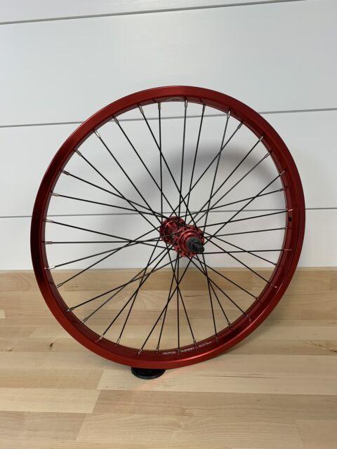 NOS 16 X 1.75 Front Steel Red /& Black Wheel w// 20 14 ga spokes