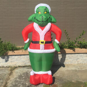 image is loading inflatable grinch 7 feet christmas decoration for outdoor