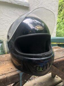 Vintage-1985-Bell-Sport-Black-Gold-Full-Face-Motorcycle-Helmet-Size-7-1-8-Gringo
