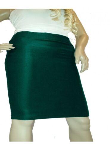 Grüner Stretch Rock knielang Größen 44-52