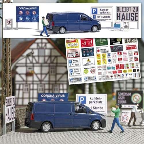 """#7912 BUSCH ACTION SET 1:87//H0 kleine Szene /""""Der Transport/"""" Figur, Auto..."""