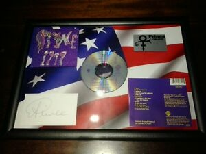 Prince 1999 Framed CD Album On 3D  USA Flag With Facsimile Autograph - glossop, Derbyshire, United Kingdom - Prince 1999 Framed CD Album On 3D  USA Flag With Facsimile Autograph - glossop, Derbyshire, United Kingdom