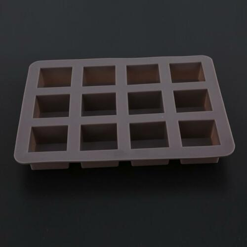 Cavity Silicone Square Chocolate Cake Soap Mold Baking Ice Tray Mould AL