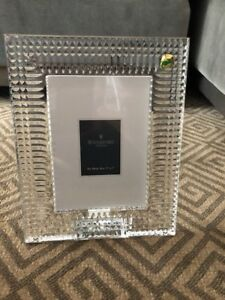 New In Box Waterford Crystal Lismore Diamond 5x7 Picture Frame Ebay