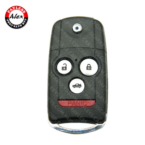 ACURA FLIP KEY SHELL WITHOUT TRANSPONDER 4 BUTTONS