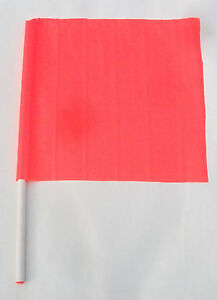 """18/"""" X 18/"""" Flag Caution Safety Construction Traffic Boat Skier Down 27/"""" Handle"""
