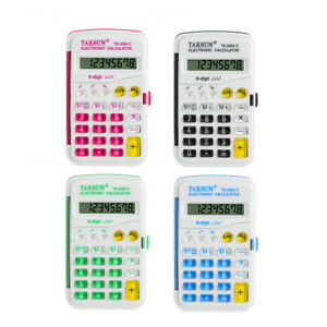 8-DIGITS-POCKET-ELECTRONIC-CALCULATOR-ASSORTED-MUTI-COLOURS