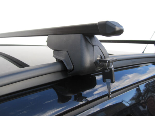Roof Rack Rail Bars Locking Fiat Panda 2012- onwards with Flush Rails