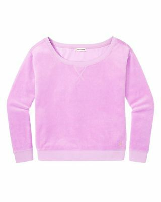 JUICY COUTURE LILAC HELIOTROPE RELAXED VELOUR PULLOVER TOP $98.00 LARGE BNWT