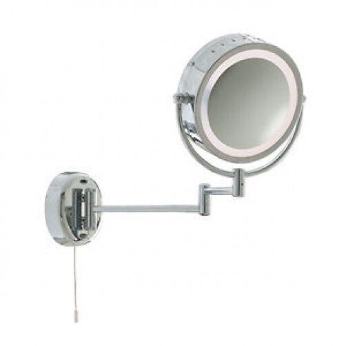100d 11824 Calidad Cromo Espejo del baño luminoso soporte de parojo de luz.
