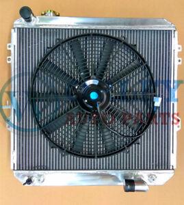 3-Rows-62mm-Aluminum-Radiator-One-Fan-for-HILUX-LN106-LN111-Diesel-1988-1997