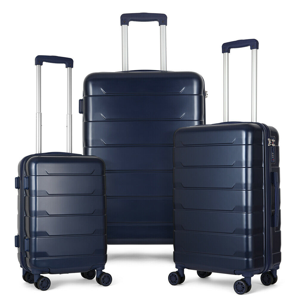 3 Piece  Luggage Cases  PC+ABS Spinner Suitcase 20 inch 24 inch 28 inch