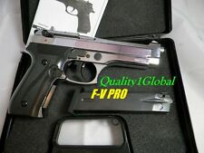 NEWEST F-VT 3D CHROME METAL FIRAT BERETTA 92 REPLICA 9MM MOVIE PROP Pistol Gun 9