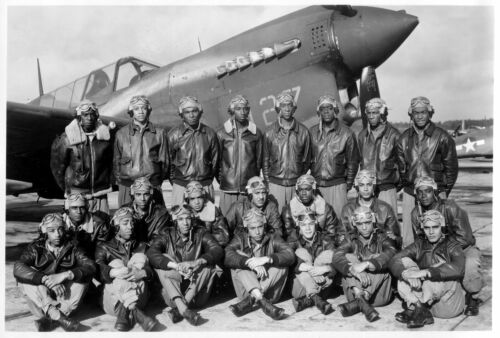 TUSKEGEE AIRMEN 8X10 PHOTO USA PICTURE WWII US MILITARY