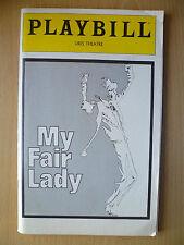 PLAYBILL URIS THEATRE PROGRAMME 1981- MY FAIR LADY by ALAN JAY LERNER